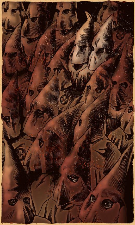 illustration of group of klansmen